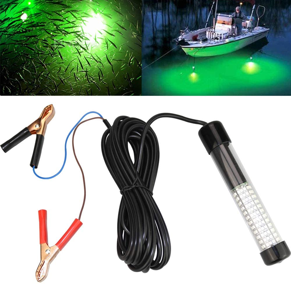12V 10.8W LED Submersible Fishing Light Underwater Fish Finder Lamp