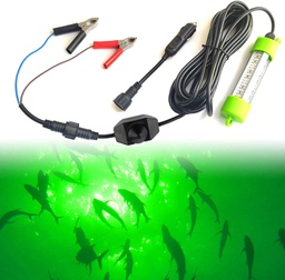 DC12V 18W/45W Dimmable Aluminum LED Fish Submersible Underwater Fishing Light