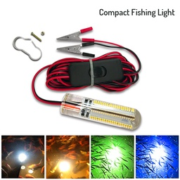 LED Underwater Fishing Light - Compact with Switch